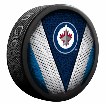 Sherwood NHL Stitch Souvenir Puck - Winnipeg Jets