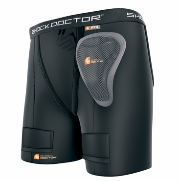 Shock Doctor 274 Power Girls Hockey Jock Shorts w/ Pelvic Protector