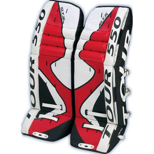 how to put on hockey goalie leg pads