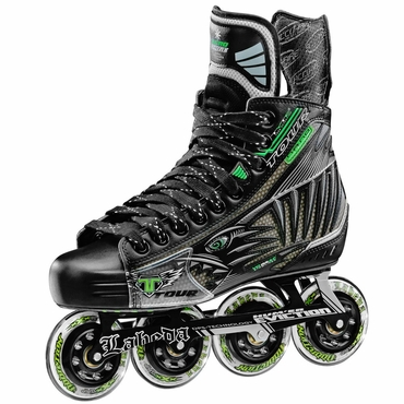Tour Fish Bonelite Black Pro Senior Inline Hockey Skates