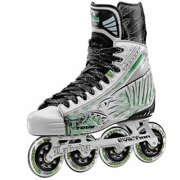 Tour Fish Bonelite White Pro Junior Inline Hockey Skates
