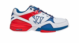 Warrior Bushido Senior Shoes - Red/White/Blue - 2012