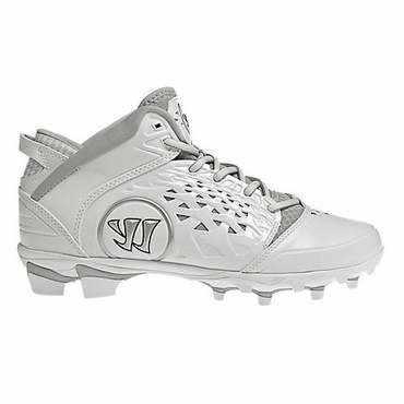 Warrior Adonis Adult Lacrosse Cleats - White