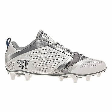 Warrior Burn 6.0 Low White Senior Lacrosse Cleats