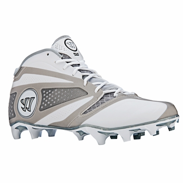 Warrior Burn 7.0 Senior Mid Cut Lacrosse Cleats - White