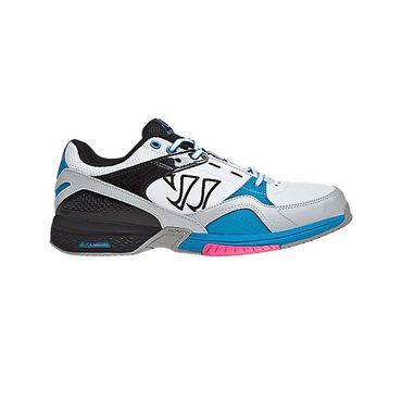 Warrior Bushido Senior Shoes - White/Blue/Pink - 2012