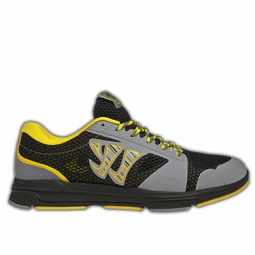 Warrior Dojo Senior Shoes - Black/Yellow - 2012