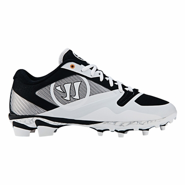Warrior Gospel Lacrosse Cleat - White/Black - Adult