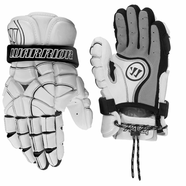 Warrior MD4 Whitewash Adult Lacrosse Gloves