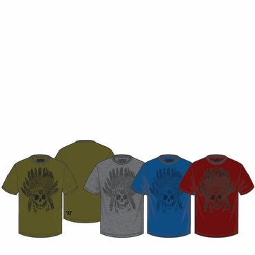 Warrior Peace Skull Senior Short Sleeve Hockey Shirt - 2012
