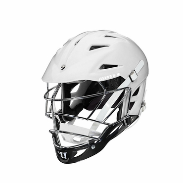 Warrior Regulator Lacrosse Helmet - White w/Chrome