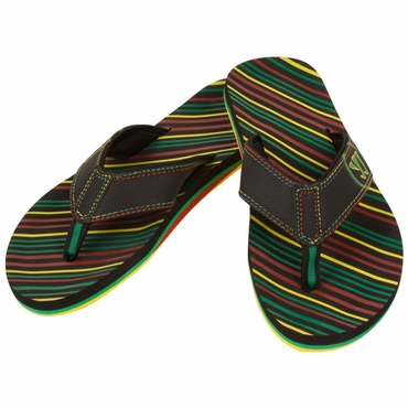 Warrior Riot Senior Thong Sandals - Black/Multi - 2012