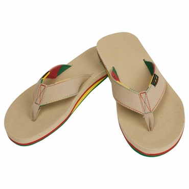 Warrior Swag Senior Thong Sandals - Khaki - 2012