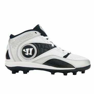 Warrior Vex 2.0 Lacrosse Cleats - White/Black - Youth