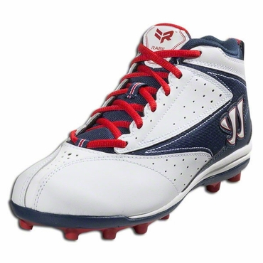 Warrior Vex Junior Rabil Lacrosse Cleats - Red/White/Navy
