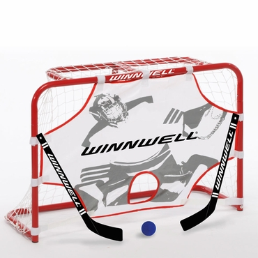 Winnwell Hockey Mini Hockey Goal, Stick and Ball Set
