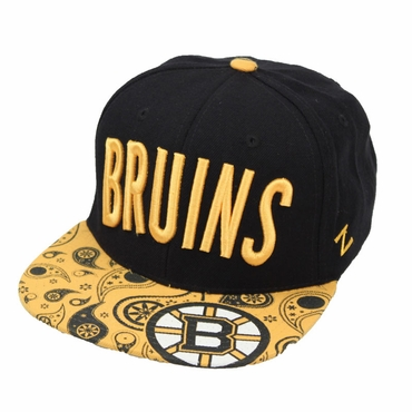 Zephyr Bandit Snapback Hockey Hat - Boston Bruins