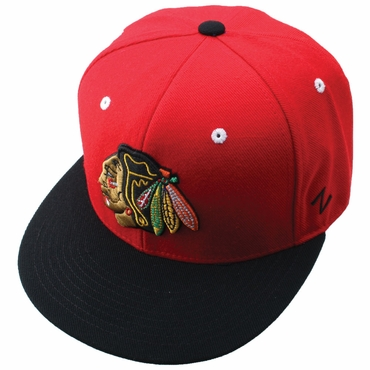 Zephyr Forecheck 32/5 Fitted Hockey Hat - Chicago Blackhawks