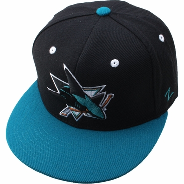 Zephyr Forecheck 32/5 Fitted Hockey Hat - San Jose Sharks