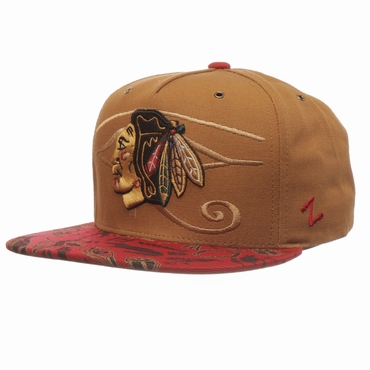 Zephyr Luxor Five Panel Adjustable Hockey Hat - Chicago Blackhawks