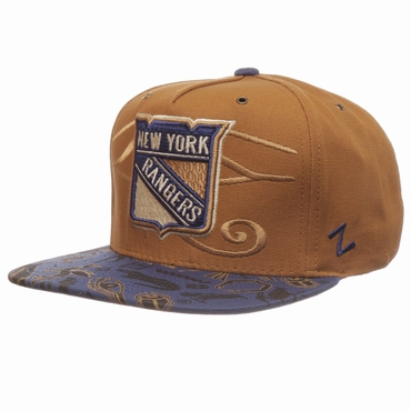 Zephyr Luxor Five Panel Adjustable Hockey Hat - New York Rangers