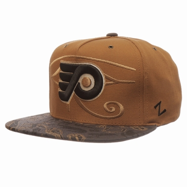Zephyr Luxor Five Panel Adjustable Hockey Hat - Philadelphia Flyers