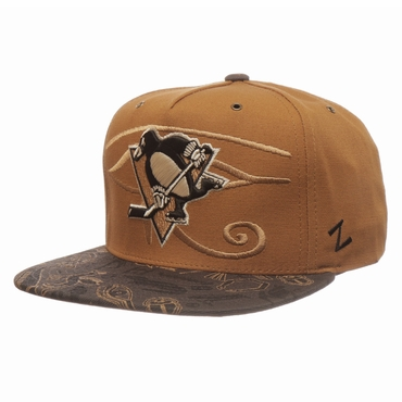 Zephyr Luxor Five Panel Adjustable Hockey Hat - Pittsburgh Penguins