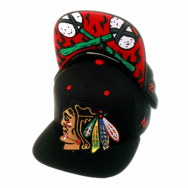Zephyr Menace Snapback Hockey Hat - Chicago Blackhawks