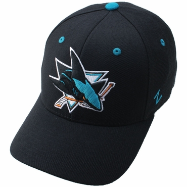 Zephyr Power Play Fitted Hockey Hat - San Jose Sharks