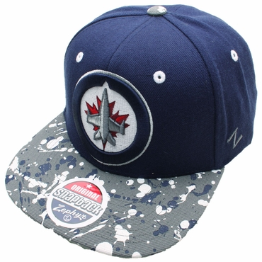 Zephyr Splatter 32/5 Snapback Hockey Hat - Winnipeg Jets