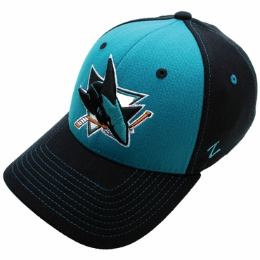 Zephyr Uppercut Fitted Hockey Hat - San Jose Sharks