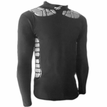 Zoombang Clavicle/Rib Senior Long Sleeve Compression Padded Hockey Goalie Shirt