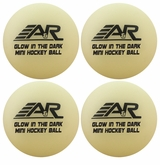 A&R Mini Hockey Glow in the Dark Balls - 4 Pack