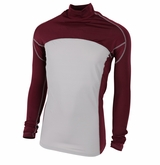 Alleson Tight Fit Yth. Mock Neck Long Sleeve Shirt