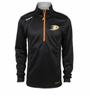 Anaheim Ducks Reebok Baselayer Quarter Zip Pullover Performance Jacket