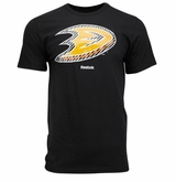 Anaheim Ducks Reebok Face-Off Carbon Logo Sr. Short Sleeve Tee Shirt