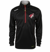 Arizona Coyotes Reebok Baselayer Quarter Zip Pullover Performance Jacket