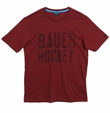 Bauer Distressed Sr. Short Sleeve Tee Shirt