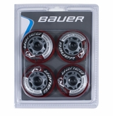 Bauer XR3 Indoor 76A Inline Hockey Wheel - 4 Pack