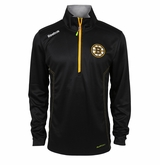 Boston Bruins Reebok Baselayer Quarter Zip Pullover Performance Jacket