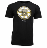 Boston Bruins Reebok Faceoff  Carbon Logo Sr. Short Sleeve Tee