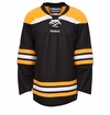 Boston Bruins Reebok Edge Gamewear Uncrested Junior Hockey Jersey