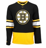 Boston Bruins Reebok Face-Off Jersey Sr. Long Sleeve Shirt