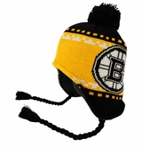Boston Bruins Reebok Face-Off Men's Tassel Knit Beanie