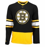 Boston Bruins Reebok Face-Off Sr. Long Sleeve Jersey Tee