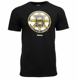 Boston Bruins Reebok Face-Off Carbon Logo Sr. Short Sleeve Tee