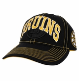 Boston Bruins Reebok Face-Off  Men's Wordmark Structured Adjustable Cap