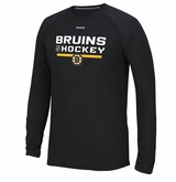 Boston Bruins Reebok Center Ice Locker Room Sr. Long Sleeve Performance Shirt