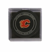 Calgary Flames Official NHL Game Puck with Cube