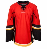 Calgary Flames Reebok Edge Gamewear Uncrested Junior Hockey Jersey